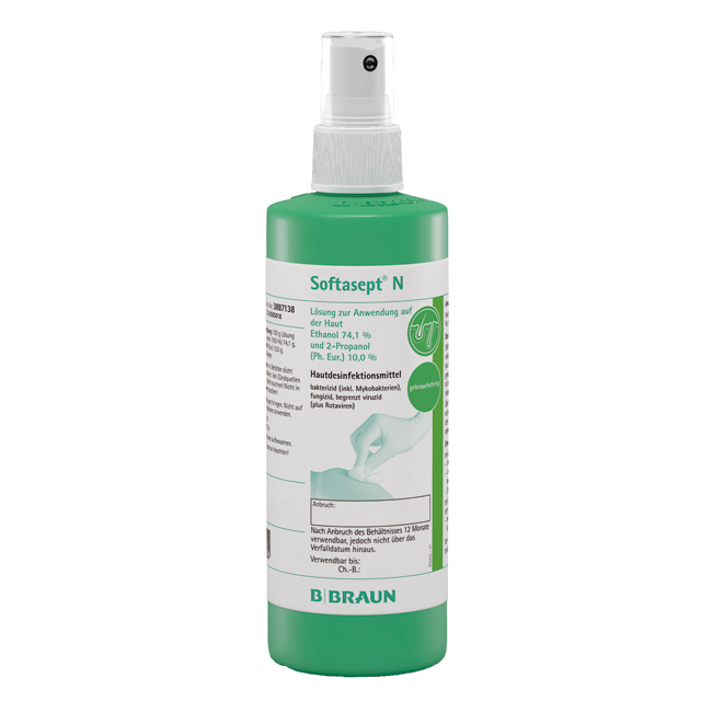BRAUN Softasept� N Hautdesinfektionsmittel 250ml (3,18€/100ml)
